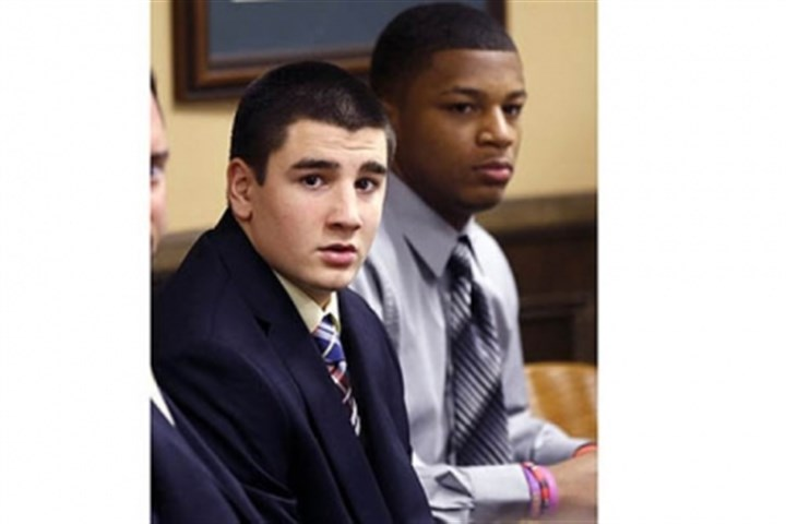 Trent Mays and Malik Richmond Trent Mays, 17, left, and Malik Richmond, 16, sit at the defense table.