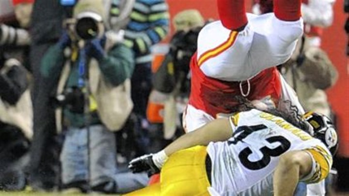 Troy Polamalu Troy Polamalu made the tackle on Kansas City's Steve Maneri on the Chiefs' first series of the game, then left with an apparent head injury.