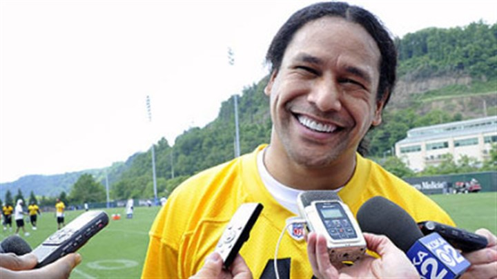 Troy Polamalu Troy Polamalu answers questions on the first day of organized team activities at the Steelers' South Side facility.