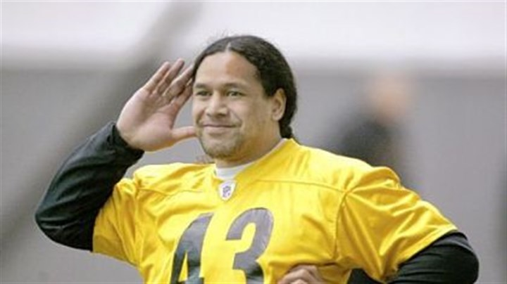 Troy Troy Polamalu, people person.