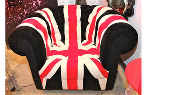 Union Jack club chair Zuo Modern Union Jack club chair, available through Weisshouse