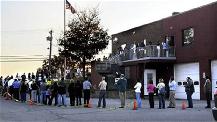 Pennsylvania voter line Voters line around the Franklin Park Fire Department and into the parking lot during a recent election. Pennsylvania voters will — for now — not be required to show a driver's license or passport in order to vote after the governor declined further legal appeals.