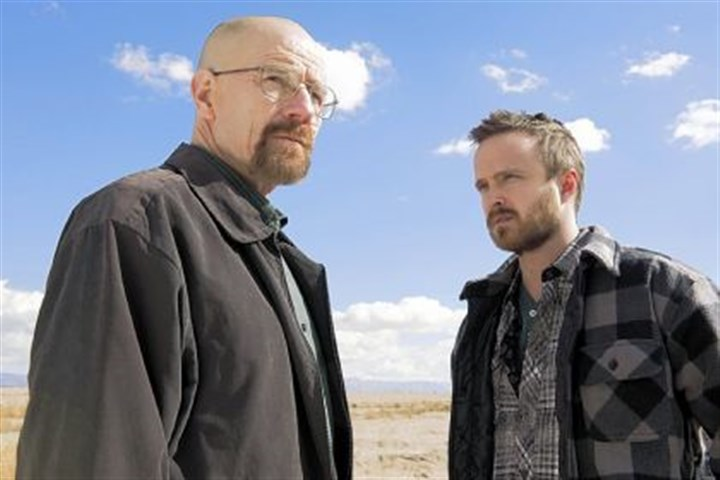 "walt and jesse breaking bad Walter White (Bryan Cranston) and Jesse Pinkman (Aaron Paul) - star on ""Breaking Bad."""