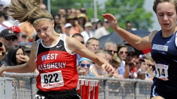 West Allegheny Track West Allegheny's Lauren Costa placed eighth as a freshman last May in the 100-meter dash at the PIAA track and field championships at Shippensburg University. She said the experience has given her confidence to improve this year.