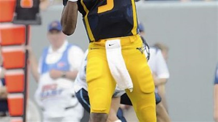 West Virginia's Pat White West Virginia's Pat White threw a career-high five touchdown passes against Villanova Saturday in Morgantown, W.Va.