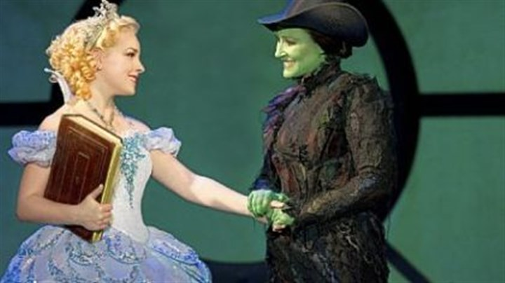 "'Wicked' Anne Brummel and Natalie Daradich portray Glinda and Elphaba in ""Wicked,"" opening Wednesday at the Benedum Center."
