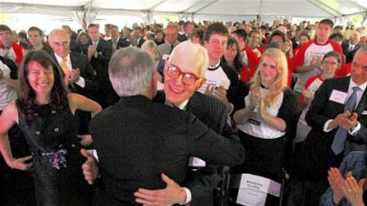 William S. Dietrich II William S. Dietrich II, center, is greeted by Raymond Lane, chairman of Carnegie Mellon University's board of trustees, as his daughter, Anna Elizabeth Diemer, of San Francisco, smiles at left.