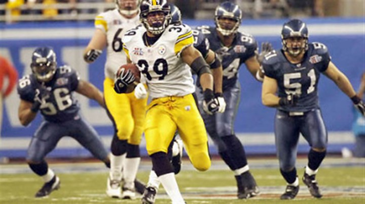 Willie Parker Willie Parker's 75-yard touchdown run in Super Bowl XL was the longest in Super Bowl history.