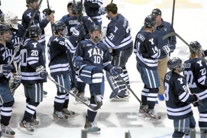 witek Mitch Witek (10) and Yale will be half of the Connecticut contingent at the Frozen Four, along with Quinnipiac.