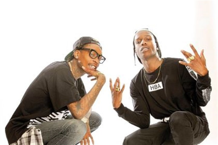 Wiz Khalifa and ASAP Rocky Wiz Khalifa, A$AP Rocky and others will be at First Niagara Pavilion Saturday.