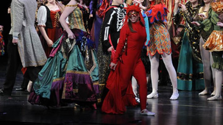 "Woodland Hills ""Masquerade"" from ""The Phantom of the Opera"" is performed by Woodland Hills High School, which won best musical for budget level III at the Gene Kelly Awards."