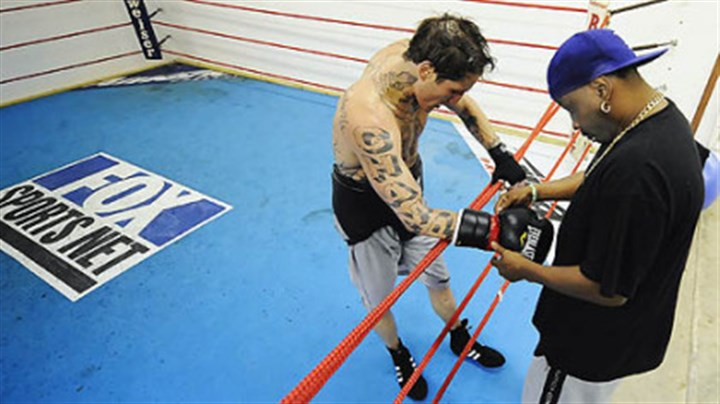 Work out Paul Spadafora works out at his training camp.