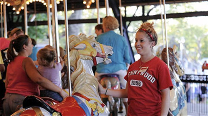 Working at Kennywood What great work if you can get it: Nikki Kwolek,19, of West Homestead, is an operator at the Kennywood merry-go-round.