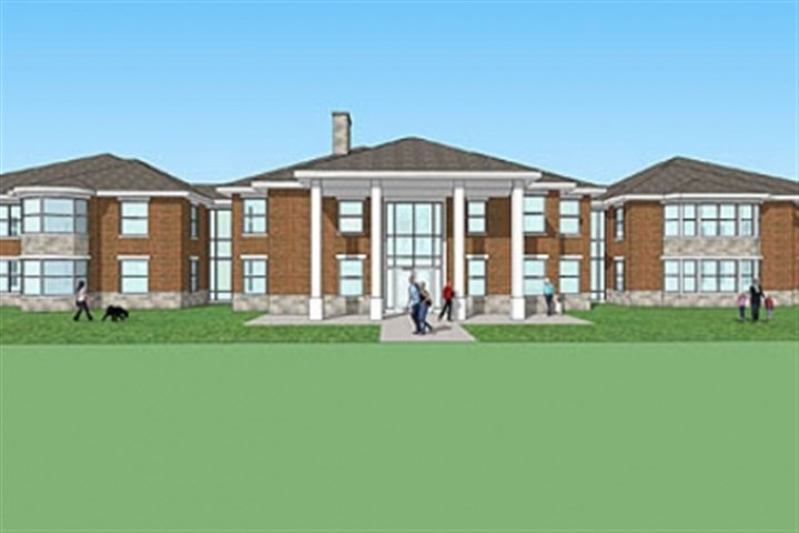 WPSD2 Western Pennsylvania School for the Deaf in Edgewood is planning to demolish its 50-year-old boys' dormitory to make way for a new facility, shown here. Students will be grouped by age, and genders will alternate by floor.