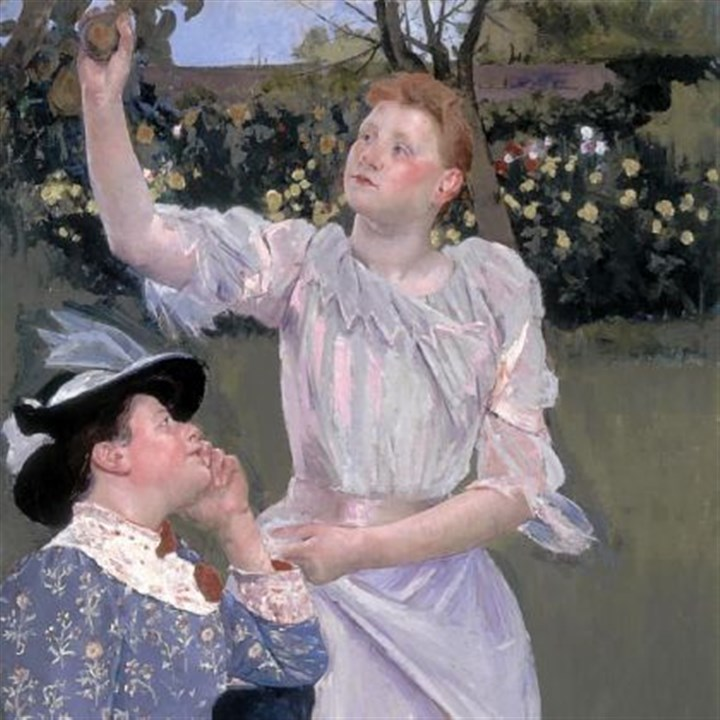 "'Young Women Picking Fruit' Mary Cassatt, ""Young Women Picking Fruit,"" 1899 Carnegie International."