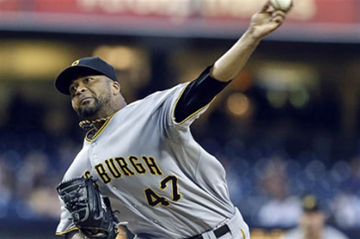 The victor Pirates pitcher Francisco Liriano.
