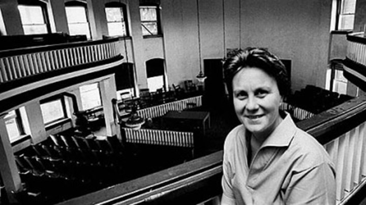 Harper Lee in Monroeville, Ala. Harper Lee poses for Life magazine in the balcony of the old courthouse in Monroeville, Ala. in May 1961.