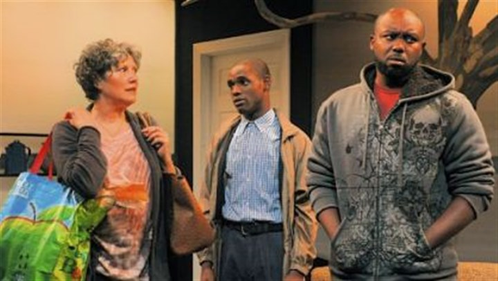"Laurie Klatscher, David Anthony Berry and Jamil A.C. Mangan Laurie Klatscher, left, David Anthony Berry and Jamil A.C. Mangan star in Tammy Ryan's ""Lost Boy Found at Whole Foods"" for The Rep at Pittsburgh Playhouse."