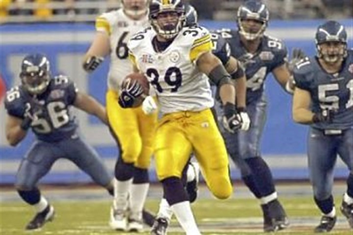 No. 4: Fast Willie's run Steelers Willie Parker runs for a third quarter touchdown against the Seahawks in Super Bowl XL. The run was the longest rushing touchdown in Super Bowl history.