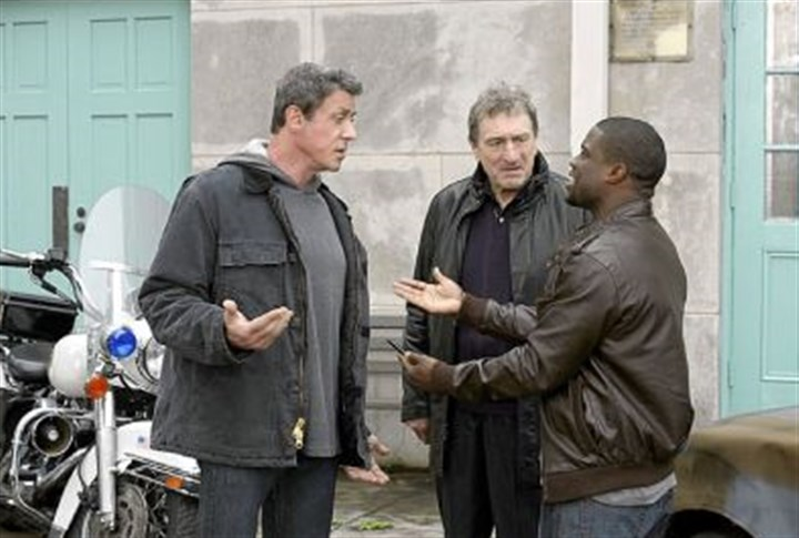 "Grudge Sylvester Stallone, left, Robert De Niro and Kevin Hart star in the comedy ""Grudge Match,"" which is set in Pittsburgh but filmed in New Orleans."