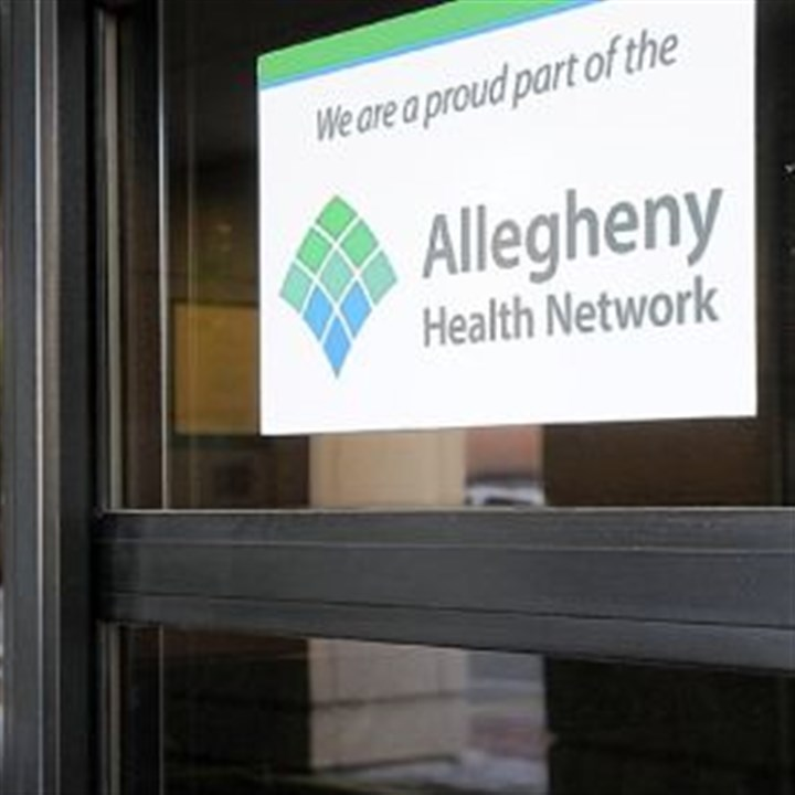 Allegheny Health Network A sign for the Allegheny Health Network at West Penn Hospital in Bloomfield.