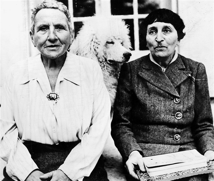 Gertrude Stein and Alice B. Toklas Gertrude Stein, left, and Alice B. Toklas shortly after Allied troops liberated their home in France in September, 1944.