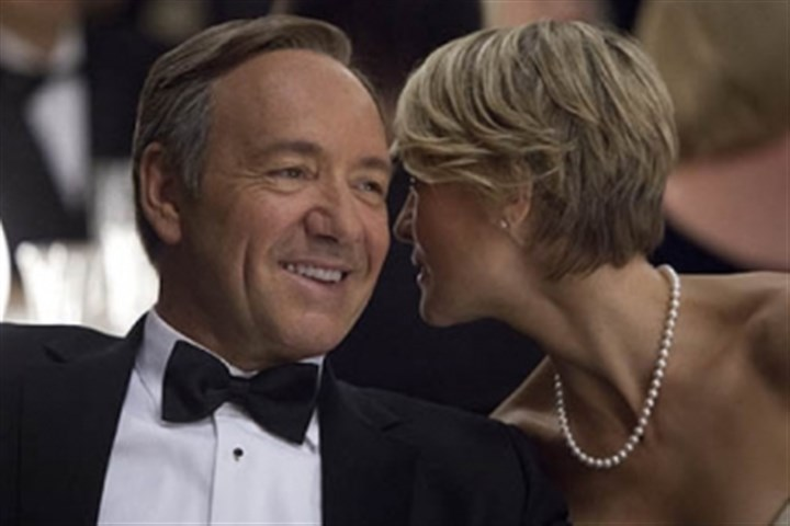 "Kevin Spacey and Robin Wright Kevin Spacey and Robin Wright from ""House of Cards"""