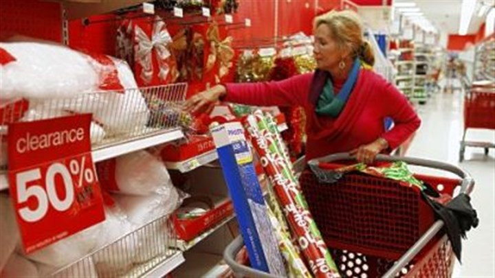 day after Christmas sales A shopper at Target