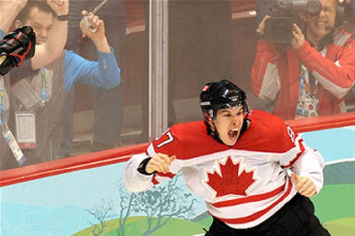 Sid celebrates Sidney Crosby jubilates after scoring the gold medal-winning goal for Canada at the Winter Olympic Games in Vancouver in 2010.