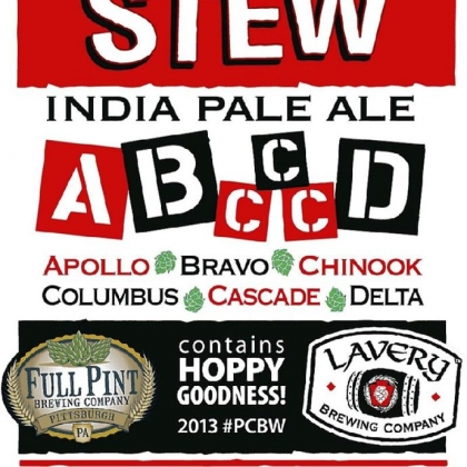 A poster for Alphabet Stew A poster for Alphabet Stew India Pale Ale, a collaboration between Erie's Lavery Brewing Co. and Full Pint Brewing Co. of North Huntingdon.
