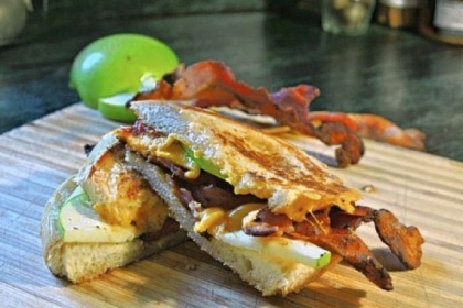 Apple Pie Bacon Grilled Cheese Apple Pie Bacon Grilled Cheese.
