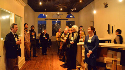 """'Better Cheese for Pittsburgh' event At last month's """"Better Cheese for Pittsburgh"""" event at Bar Marco in the Strip District, David Lagnese addresses his fellow cheeseheads."""