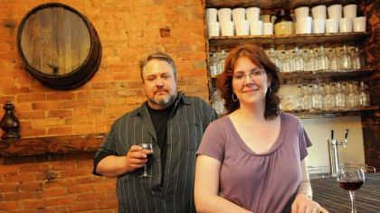 Bill and Michelle Larkin Bill and Michelle Larkin in their Arsenal Cider House in Lawrenceville.
