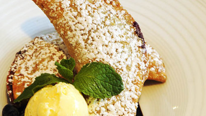 Blueberry empanda. Blueberry empanada from Bigelow Grille.
