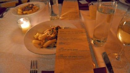 """Bolognese sauce of pork, lamb and goat The second course of the night at the """"Better Cheese for Pittsburgh"""" event was pasta with a Bolognese sauce of pork, lamb and goat, topped with Romano-style sheep grating cheese by River View Dairy."""