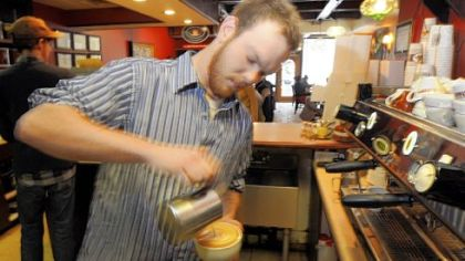 Braden Walter Braden Walter, is one of the baristas at Tazza D'Oro, 1125 N. Highland Ave., Highland Park.