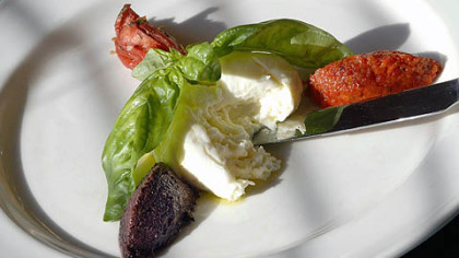 Burrata cheese dish We'll pair artisanal cheeses such as burrata with wines from around the world.