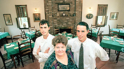 Clifford's Owners of Clifford's restaurant near Evans City are, from left, Jesse, Valerie and John Enslen.