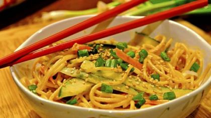 "Cold Sesame Noodles Cold Sesame Noodles from ""The Chinese Takeout Cookbook"" by Diana Kuan."