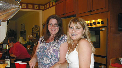 Cookover Marguerite Milliren, left, of Pittsburgh, and Michele Brigante of Morris Plains, N.J., at last weekend's bakespace.com cookover in Washington County.