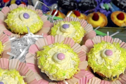 Creme Egg Cupcakes Creme Egg Cupcakes by Arlene Burnett.