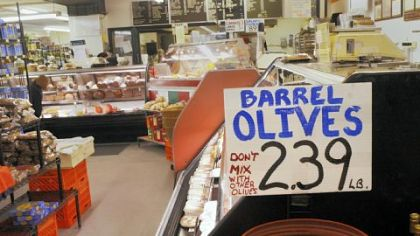 Donatellli's Italian Foods Meats, cheeses, bread and olives are on display at 