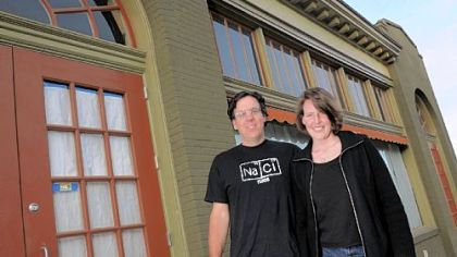 Doug and Liza Cruze City stickers: Doug and Liza Cruze at Salt of the Earth, the restaurant they're designing on Penn Avenue.