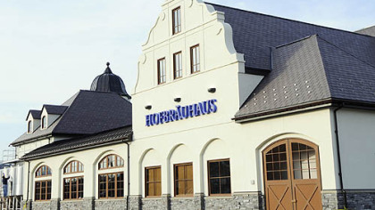 Exterior of the Hofbrauhaus Hofbrauhaus Pittsburgh launched with a soft opening on March 16. A grand opening will be held April 29.