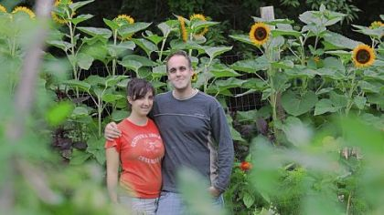 Farm owners Tara Rockacy and Todd Pander at their home Churchview Farm, in Baldwin.