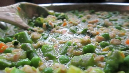 Farro with Peas, Asparagus and Mint Farro with Peas, Asparagus and Mint.