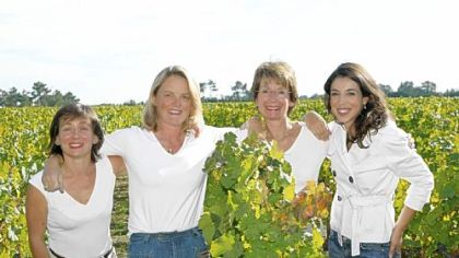 'Femmes du vin' From left to right: Marie-Laure Lurton, Armelle Falcy-Cruse, Martine Cazeneuve and Florence Lafragette.