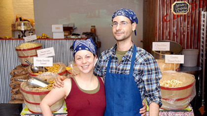 Genalle and Rob Day photo Genalle and Rob Day opened The Pittsburgh Popcorn Company on 21st Street in the Strip District.
