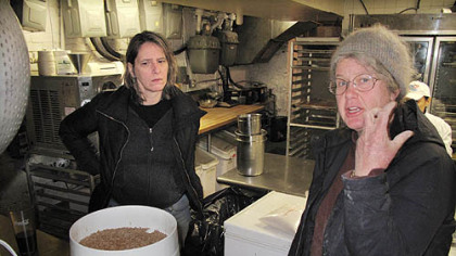 Grains expert Elizabeth Dyck Elizabeth Dyck, right, in the kitchen of I Trulli in New York City with chef Patti Jackson.