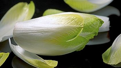 """Green chicory The sturdy leaves, or """"spears,"""" of Belgian endive make great edible cups for dips and other fillings."""